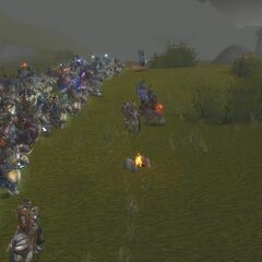 Among the Alliance armies at the Siege of Hammerfall.