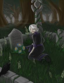 Meriahm at grave