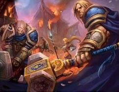 Arthas, Jaina and Uther in Hearthglen