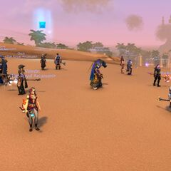 The Stormwind Circle in Uldum looking for treasure and relics.