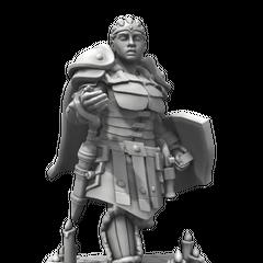 Charlene in armor! Created in Hero Forge.