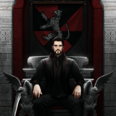 Lord Kilbrook sitting upon the Sanguine Throne by Arcan-Anzas