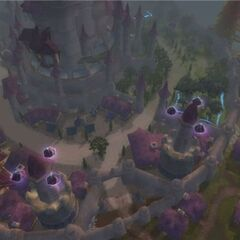 Dalaran from a bird's eye view.