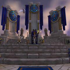 Far-upper-left, Landens stands honor guard for <a href=
