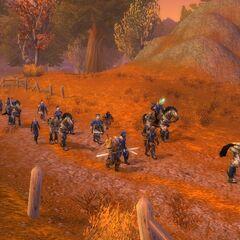 Leading Stormwind's troops in Westfall.