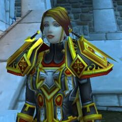 Melysa wearing the armor specially crafted for her as <a href=