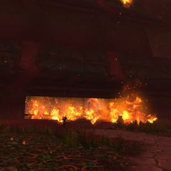Trapped citizens burn to death in the buildings of Darnassus.