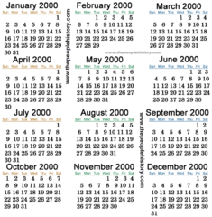 85 2000 Calender 6 2000 Calendar May Month Year 3 Of 4