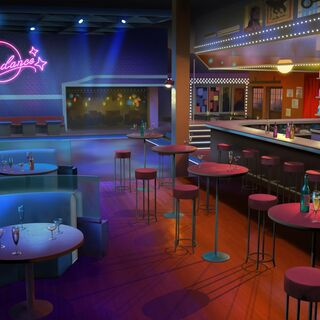 The interior of the Moondance club