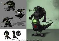 Moorhuhn T&C Ninja Krokodil 4