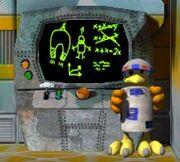 R2-D2 Moorhuhn