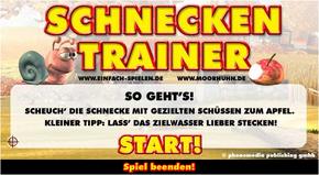 Schneckentrainer Menü