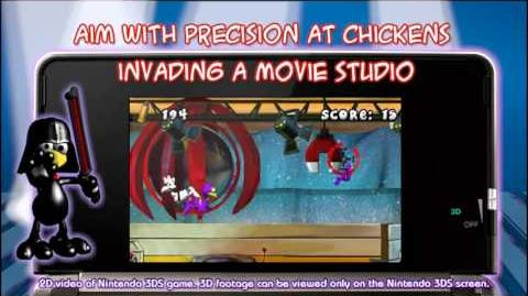 Crazy Chicken Director's Cut 3D (Nintendo eShop DSiWare) Trailer by Teyon