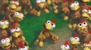 Moorhuhn Invasion Trailer Hühner