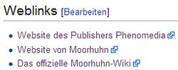 Moorhuhn Wiki in Wikipedia verlinkt