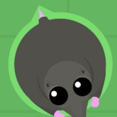 This Mole has a green outline, and can be eaten.
