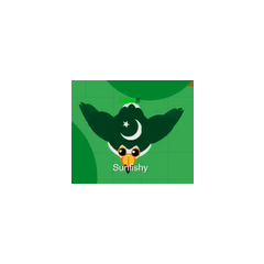 A Pakistani Toucan flying. Notice how flight reveals the entirety of Pakistan's flag.