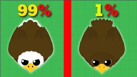 ULTRA RARE GOLDEN EAGLE Mope.io Update Mope.io Bests And Funny Moments