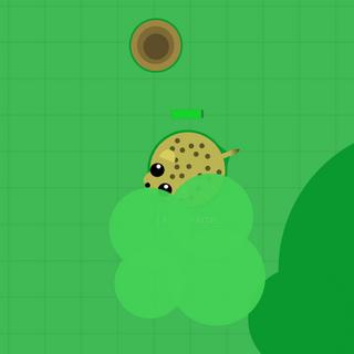The cheetah near a transparent bush.