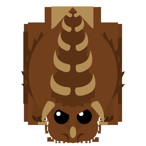 Dino monster round head