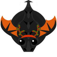 A Winter-skinned Black Dragon (Looks like a Reindeer).