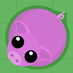 This Pig has a dark green outline. Therefore it can neither hurt you, nor can you harm it.