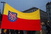 Moravska vlajka pouzivana priznivci Moravskeho hnuti