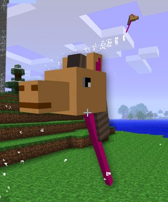 how to get off a horse in minecraft on ipad