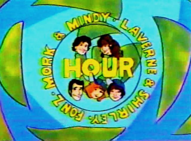File:Mork & Mindy Laverne & Shirley Fonz Hour.jpg