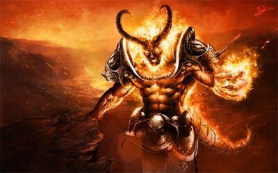 Demonic Spirit of a Minotaur