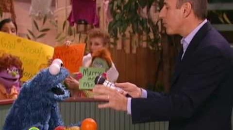 Sesame Street Matt Lauer Interviews Cookie Monster