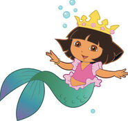 Dora with crown