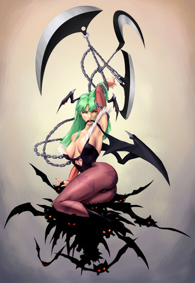 Sweet morrigan by alxndr art
