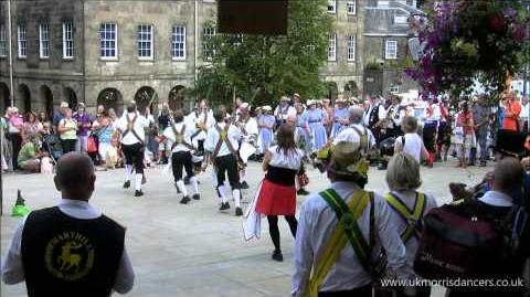 Morris Dancing Kesteven Morris Men at Buxton, Derbyshire