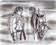 Ryu x scorpion mk by luis mortalkombat14-d696ocv