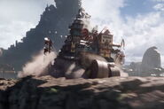 Mortal Engines film - London chases Salthook