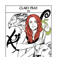 Different colors, runes added, and Clary's smile