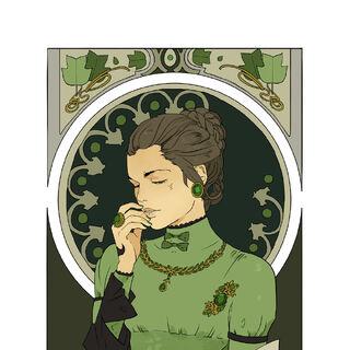 Charlotte's Emerald Portrait