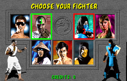 MK character select