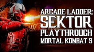 Mortal Kombat 9 (PS3) - Arcade Ladder Sektor Playthrough Gameplay