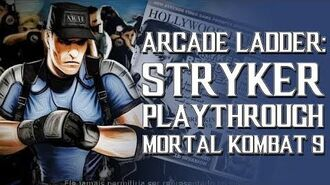 Mortal Kombat 9 (PS3) - Arcade Ladder Stryker Playthrough Gameplay