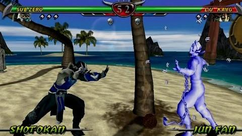 Mortal Kombat Unchained Gameplay with Sub-Zero (PSP)