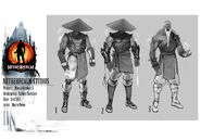 Mortal Kombat X MKX Concept Art MN Raiden Template-Idea