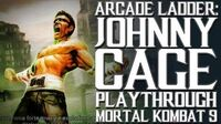 Mortal Kombat 9 (PS3) - Arcade Ladder Johnny Cage Playthrough Gameplay