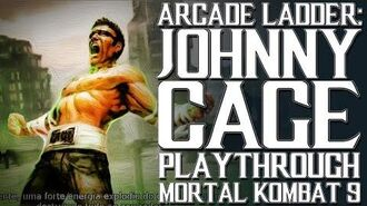 Mortal Kombat 9 (PS3) - Arcade Ladder Johnny Cage Playthrough Gameplay
