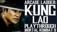 Mortal Kombat 9 (PS3) - Arcade Ladder Kung Lao Playthrough Gameplay