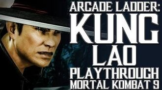 Mortal Kombat 9 (PS3) - Arcade Ladder Kung Lao Playthrough Gameplay