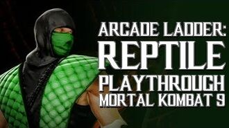 Mortal Kombat 9 (PS3) - Arcade Ladder Reptile Playthrough Gameplay