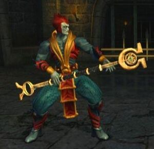 Lord Shinnok with His Amulet Staff
