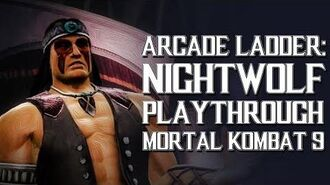 Mortal Kombat 9 (PS3) - Arcade Ladder Nightwolf Playthrough Gameplay